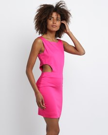 PEG Ladies Side Cut-Out Dress Pink