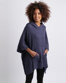 Billabong Coastal Dreams Knit Poncho Blue