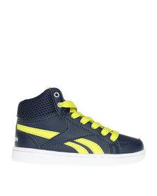 Reebok Classic Kids FTW Hi Top Sneaker Royal Prime Navy