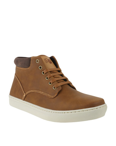 Luciano Rossi Casual Lace Up Ankle Boot Camel