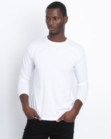 Fruit of the Loom Classic Long Sleeve Crew White