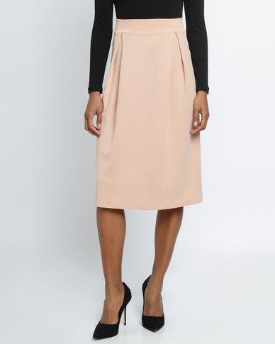 Utopia Pleated Ponti Skirt Pink