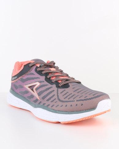 Power Performance XO Rise Phantom Running Shoe Grey Peach