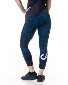 Custom Athletic Ladies Performance Tights Army Blue