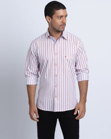 Phashash Robin Shirt Vertical Stripe Red White