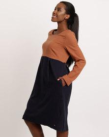 Jenja Colour Block Shift Dress Multi