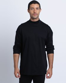 Birdi Double Mercerized Cotton Polo Neck Black