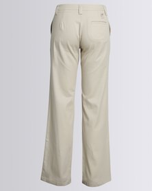 Birdi Ladies 100% Cotton Twill Long Trousers Stone