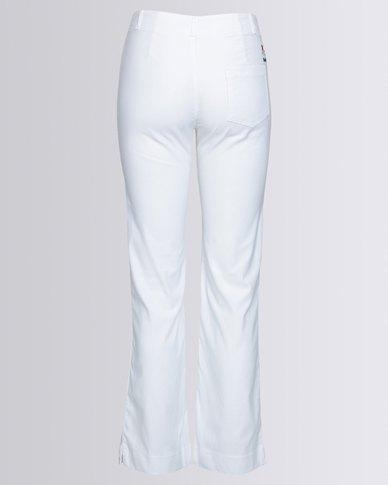 Birdi Ladies 100% Cotton Twill Long Trouser White