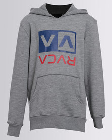 RVCA Two Colour Flipped Box Hoodie Grey