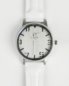 Joy Collectables Mens Big Dial Watch White