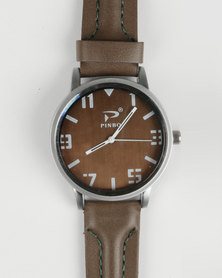 Joy Collectables Mens Big Dial Watch Olive