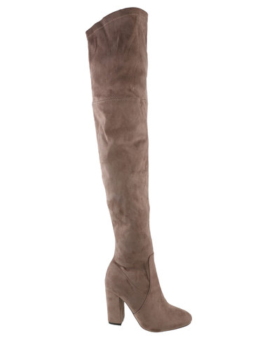 Footwork Orchid Over The Knee Boot Beige