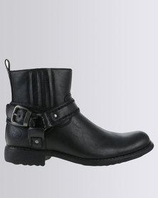 Zah Heritage Casual Ankle Boot Black