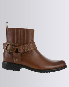 Zah Heritage Casual Ankle Boot Brown