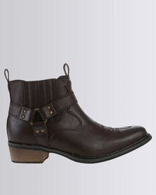 Zah Vintage Casual Ankle Boot Choc