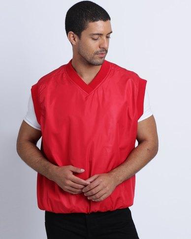 Birdi Men's Microactive Microfibre Sleeveless Windshirt Red