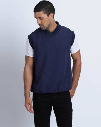 Birdi Men's Microactive Microfibre Sleeveless Windshirt Navy