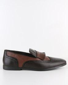 Paul Of London Formal Slip On Shoe Choc/Tan