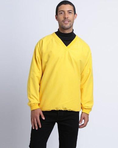 Birdi Men's Microfibre Windshirt Pull Over Yellow
