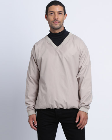Birdi Men's Microfibre Windshirt Pull Over Stone