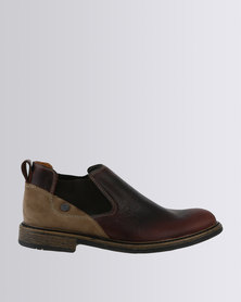 Bronx Men Jump Leather Casual Slip On Ankle Boot Brown