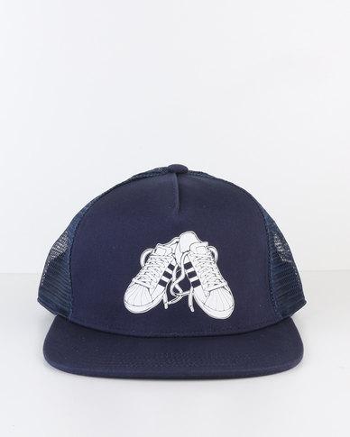 7dce66735e2 adidas Trucker Sneaker Cap Blue