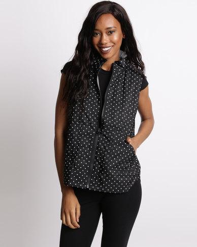 Gordon Smith Boston Reversible Print Vest Black/Ivory