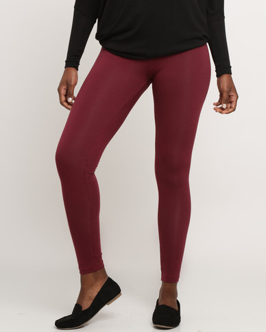 Utopia Basic Leggings Burgundy