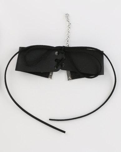 Jewels and Lace Choker Black