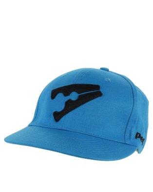 d82031d1100 Peg Baseball Flat Cap Light Blue and Black