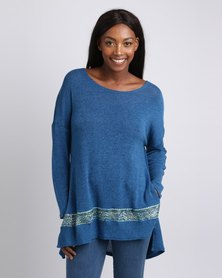 UB Creative Knit Sequin Jersey Blue