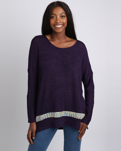 UB Creative Knit Sequin Jersey Purple