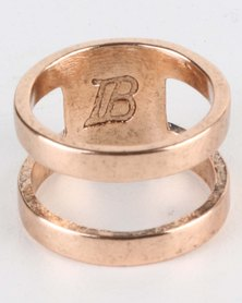 Icon Brand Divided Band Ring Gold-Tone