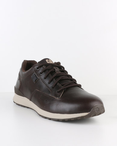 1a89bc89016457 Caterpillar Signify Leather Low Cut Sneaker Dark Brown