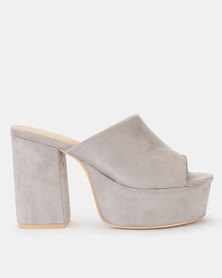 Public Desire Misty Grey Heel