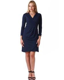 Jatine Chelsea Wrap Dress Navy