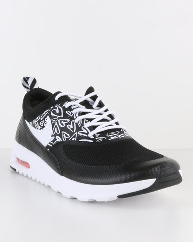 sports shoes 7e14c 6d488 Nike Air Max Thea Print GS Sneaker Black   Zando