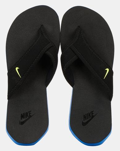 nike celso flip flops black