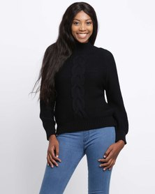 Sitting Pretty Fjord Cable Jersey Black