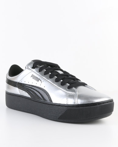 df0a99e272f Puma Vikky Platform Metallic Sneaker Silver