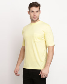 Great American One Pocket T-Shirt Lemon Yellow