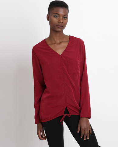 Game of Threads Combo Tunic Top With Drawstring Chiraz Red