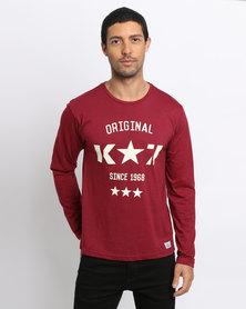 K7Star Logo T-Shirt Burgundy