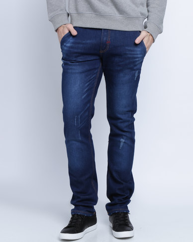 Soviet Splint Comfort Jeans Mid Blue