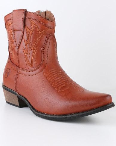 Zäh Reno Cowboy Ankle Boot Tan