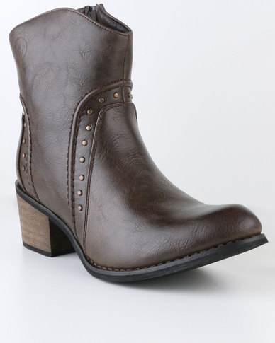 Zäh Ruby Heeled Mid Calf Boot Choc