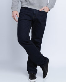Soviet Mens Enigma #5 Basic Straight Leg Denims Blue/Black