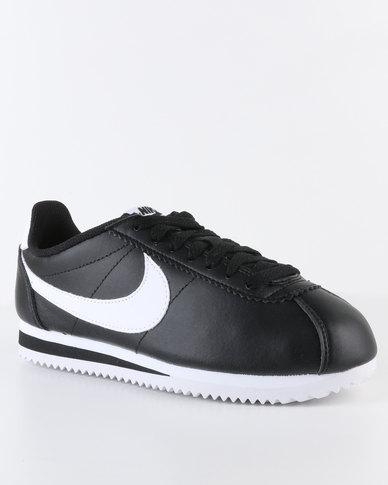 1bf384193efdf Nike Womens Classic Cortez Leather Black | Zando