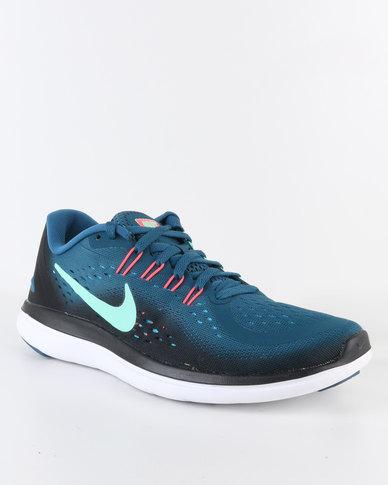 c9fdafdc1ada Nike Performance Womens Flex 2017 RN Sneaker Blue